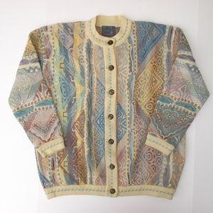 COOGI Merino Wool Cardigan size S Has POCKETS